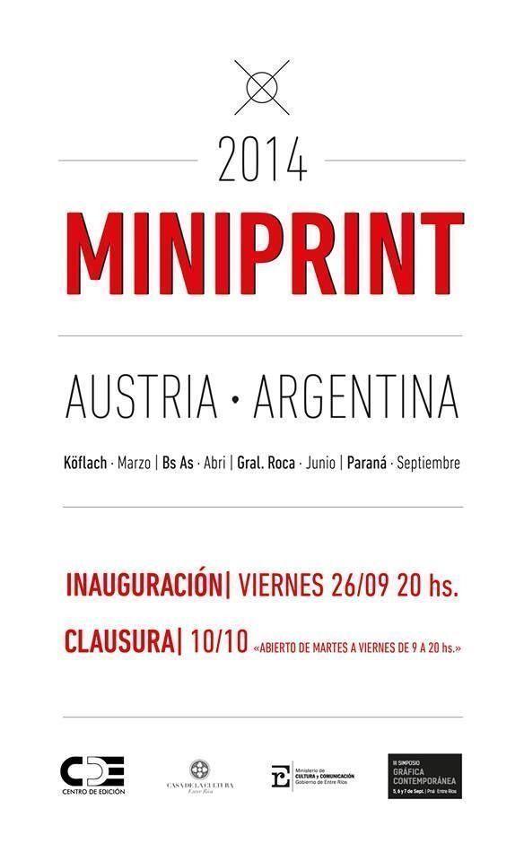 «MINIPRINT 2014 Argentina-Austria» en Paraná, Entre Ríos