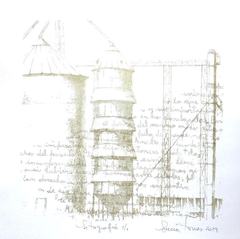 LUCIA TORRES «Serie Vida 18» Litografía 30x30cm - Año 2019 «GRAVURE CONTEMPORAINE INTERNATIONALE / GRABADO INTERNACIONAL CONTEMPORÁNEO», Centro de Edición CDE, París - Francia