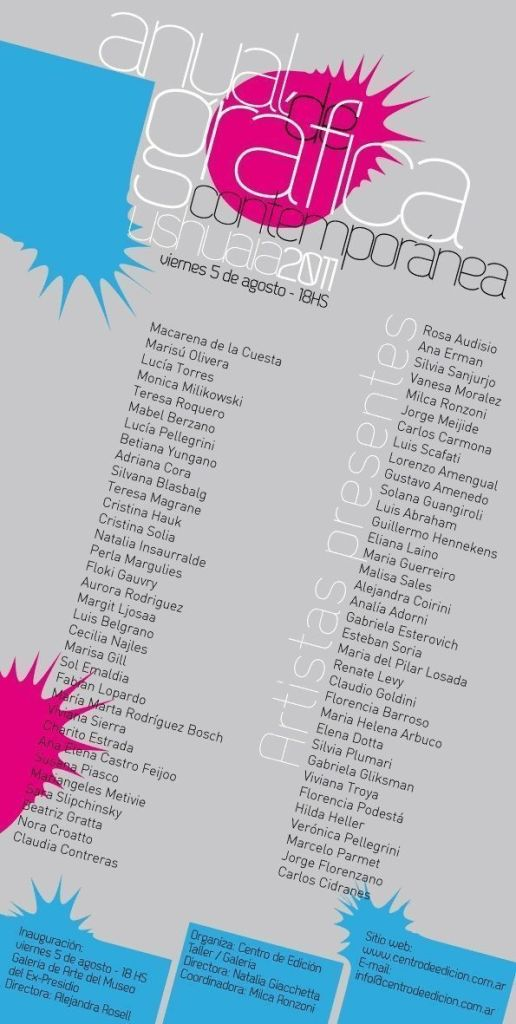 «ANUAL GRÁFICA CONTEMPORÁNEA» Ushuaia 2011