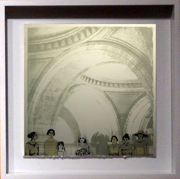 LUCIA TORRES «MIGRANTE» 59 (políptico) - Litografía, Xilografía, Polyester Print - 82x82cm - Año 2013 «Salón Bienal Nacional de PINTURA y GRABADO» QUILMES 2013, en el Museo Municipal de Artes Visuales Víctor Roverano