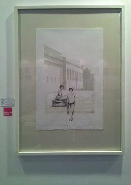 LUCIA TORRES «Migrante» 37- Litografía, Polyester Printer 65x38cm - Año 2013 -Centro de Edición «Affordable Art Fair México», EXPO REFORMA en México DF, 2013