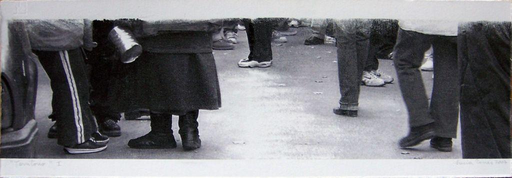 LUCIA TORRES con «Territorio I» Transfer de 19x56cm - Año 2007 en RE[conocer]NOS «EXPOSICIÓN INTERNACIONAL DEL GRÁFICA CONTEMPORÁNEA - DIÁLOGOS E INTERPRETACIONES» en Museo de Arte de Caldas, Colombia