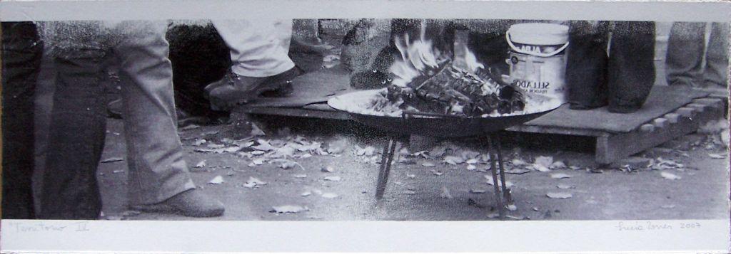 LUCIA TORRES con «Territorio IV» Transfer de 19x56cm - Año 2007 en RE[conocer]NOS «EXPOSICIÓN INTERNACIONAL DEL GRÁFICA CONTEMPORÁNEA - DIÁLOGOS E INTERPRETACIONES» en Museo de Arte de Caldas, Colombia