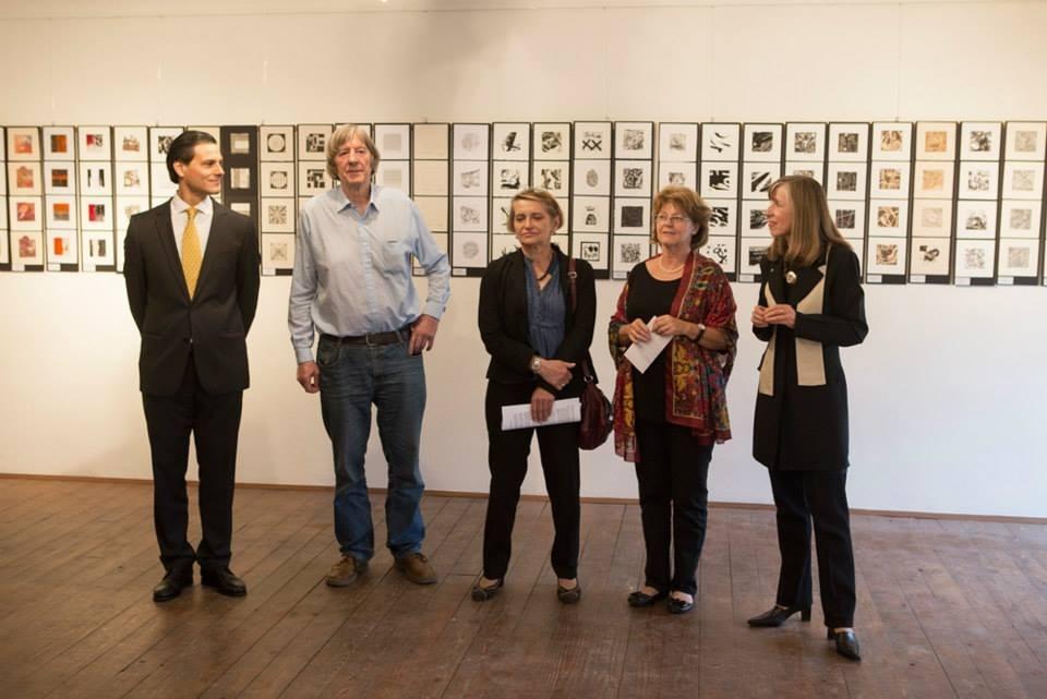 Internationales Grafikprojeckt Osterreich - Argentinien «MINIPRINT 2014» en la Galerie der BVBKünstler, Viena